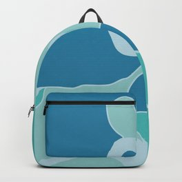 Blue portrait silhouette Backpack