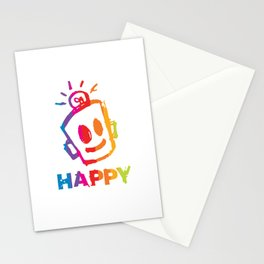HAPPY  Stripes Stationery Cards