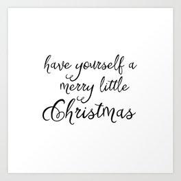 A merry little Christmas Art Print