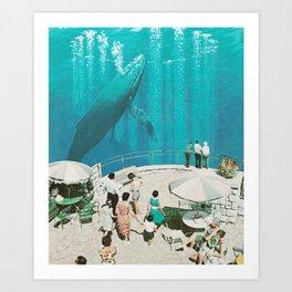 BLUE BEYOND Art Print