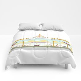 Carousel - white background Comforters