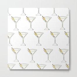 Itsy Bitsy 'Tinis // Watercolor Martini Pattern Metal Print