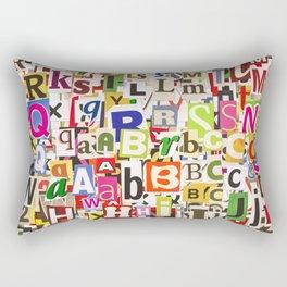 Ransom Note Rectangular Pillow