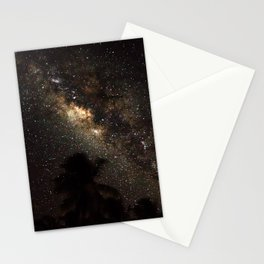 Milkyway over maldives Stationery Cards