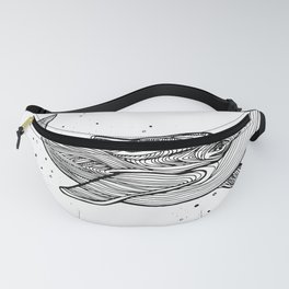 Hand draw whale Fanny Pack