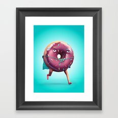 Donut Man Framed Art Print