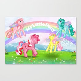 g1 my little pony Galaxy and Flutter ponies Canvas Print