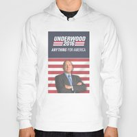 house of cards Hoodies featuring House of Cards / Campaign Poster II by Earl of Grey