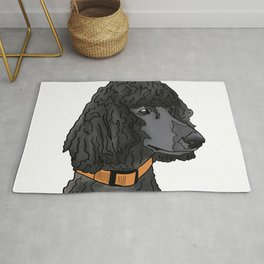 Misza the Black Standard Poodle Rug