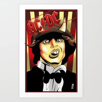 acdc Art Prints featuring Rockarture ACDC by JHC Studio