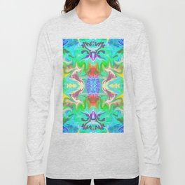 156 - colourful abstract design Long Sleeve T-shirt