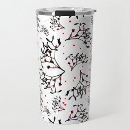 Mistletoe Pattern Travel Mug