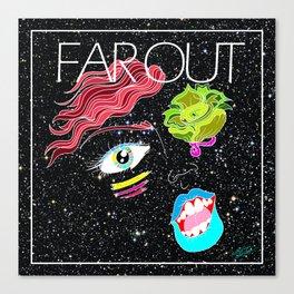 """Far Out Woman"" Canvas Print"
