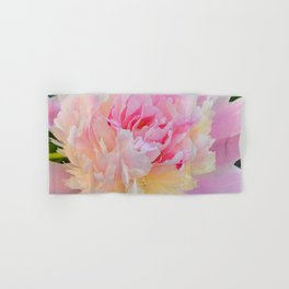 Joy of a Peony by Teresa Thompson Hand & Bath Towel