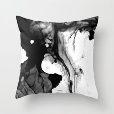 Soft Black Marble  Throw Pillow