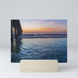 Northside Sunset at Scripps Pier Mini Art Print