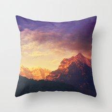 arrival of the sun Throw Pillow