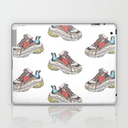 Balenciaga Triple S Sneaker Pattern Illustration Laptop & iPad Skin