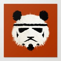 panda Canvas Prints featuring Panda Trooper by Danny Haas