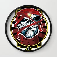 iron maiden Wall Clocks featuring Tribute Iron Maiden by JHC Studio