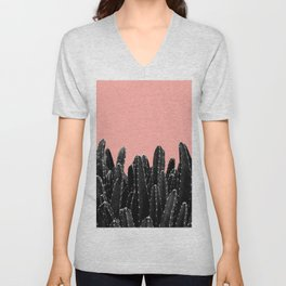 Black Cacti Dream #2 #minimal #decor #art #society6 Unisex V-Neck