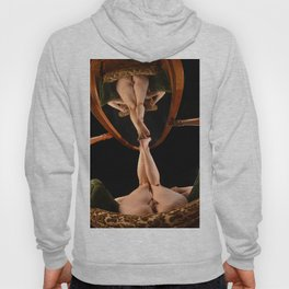 4780-AK Art Model Sitting Nude Before a Mirror, Feet Up Hoody