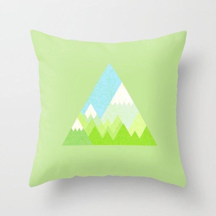 national park geometric pattern Throw Pillow