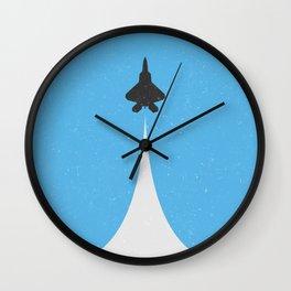Fighter Jet Ascending Wall Clock
