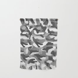 Grey Gray Camo Camouflage Wall Hanging