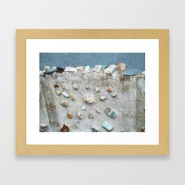 Swedish Stone Wall Framed Art Print