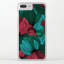 Big Flowers Clear iPhone Case