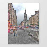 edinburgh Canvas Prints featuring Edinburgh by Christine Workman