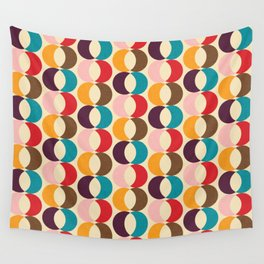 Mid Century Modern Circles Wall Tapestry