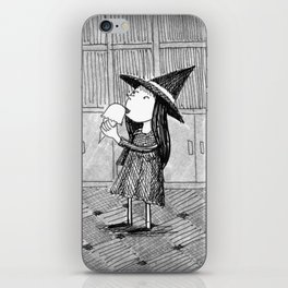 Little Witch Eating Ice Cream iPhone Skin