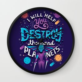 A Thousand Planets Wall Clock
