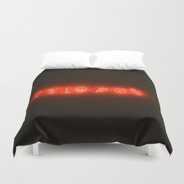 Neon Sweary (Color) Duvet Cover