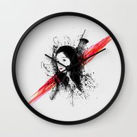 melissa smith Wall Clocks featuring Melissa by Josh Belden