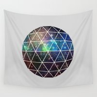 data Wall Tapestries featuring Space Geodesic by Terry Fan