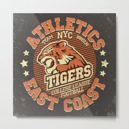 Angry Tiger Sport Metal Print