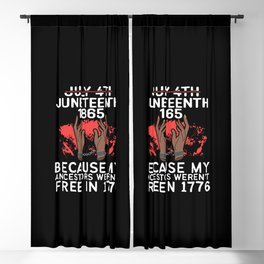 Juneteenth African American Freedom Blackout Curtain