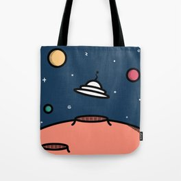 Alien Encounter Tote Bag