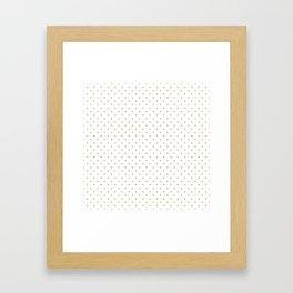 Christmas Gold Polka Dots on White Framed Art Print