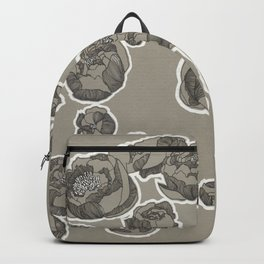 Peonies on Toned Paper Backpack