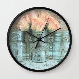 Peach Blossoms Wall Clock