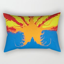 Arizona Flag Fluid Art Style 2 Rectangular Pillow