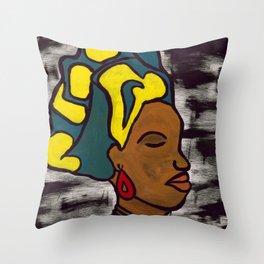 Bajan Woman Throw Pillow