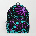 Abstract polka dot purple , black , turquoise . by decoli