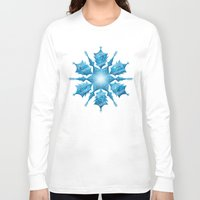 snowflake Long Sleeve T-shirts featuring Snowflake by Salih Gonenli