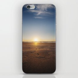 Beach Walk at Sunrise iPhone Skin