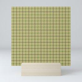 Fern Green & Sludge Grey Tattersall Horse Blanket Print Mini Art Print